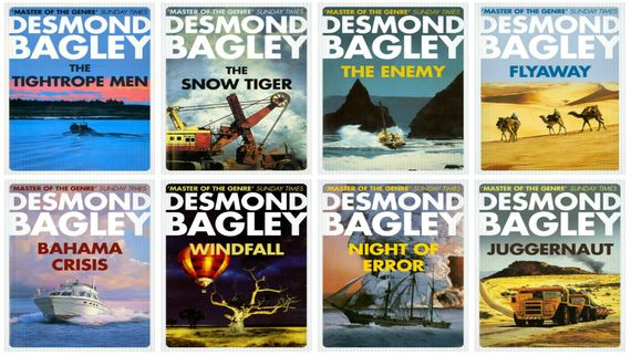 Desmond Bagley Book Covers Logo for Guernsey Self Catering Apartment