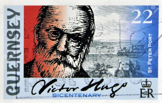 Victor Hugo Stamp Logo for Guernsey Self Catering Apartment