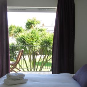 Guernsey in Bloom Double Bedroom and Balcony