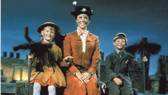 Guernsey's Karen Dotrice with Julie Andrews in Mary Poppins
